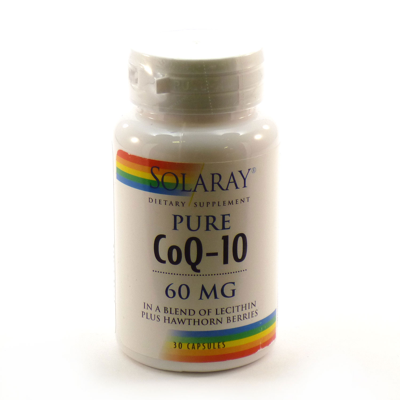 Solaray CoQ-10 Capsules, 60mg, 30 Count